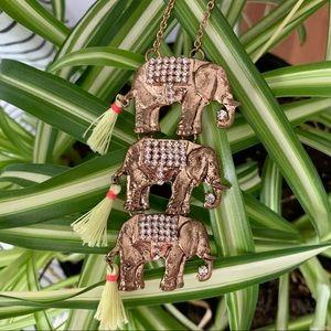 Anthro Stacked Elephant Necklace